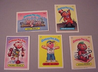 Vintage Garbage Pail Kids Trading Cards  5 Stickers 1986 Topps unused