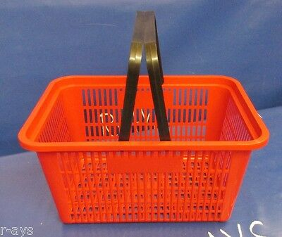 Shopping Basket Standard-Size - Red  Black Plastic Handles