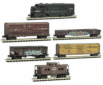 Micro Trains 994 05 140 Z scale New York Central weathered Train Set - no track