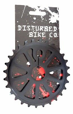 Disturbed BMX Chainring / Sprocket 28th or 30th Black Alloy 1/2 x 1/8