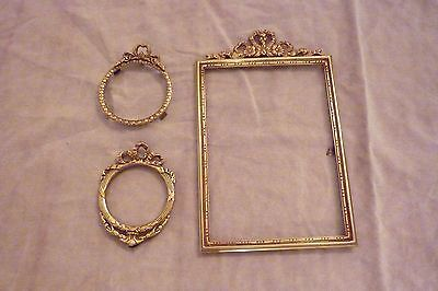 Antique Three Solid Bronze Frame French Of Excellent Quality