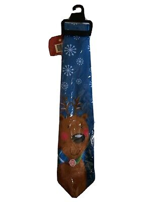 Christmas Tie  With Sounds Multicolor  Lights Up Plays Christmas Music