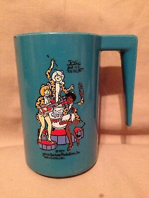 Vintage Plastic Children's Cup mug 1971 Hanna-Barbera Josie and The Pussycats