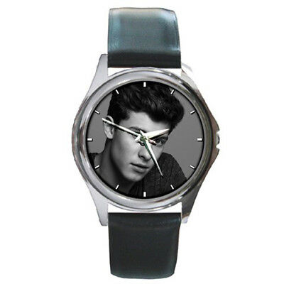 Shawn Mendes Mendez Silver Metal Watch Leather Band