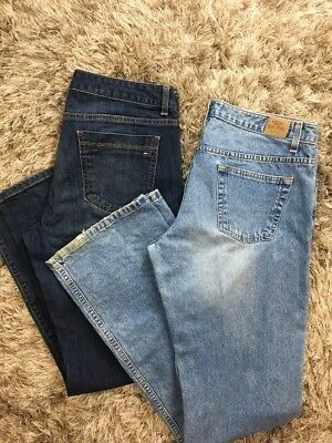 Lot Of 2 Womens Size 12 Jeans Tommy Hilfiger Old Navy D10
