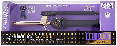 "NEW Hot Tools Professional 1104 5/8"" Gold Marcel Hair Curling Iron"