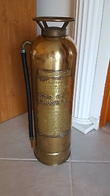 "RARE Antique Vintage ""STANDARD"" Copper Brass Fire Extinguisher Not Polished"
