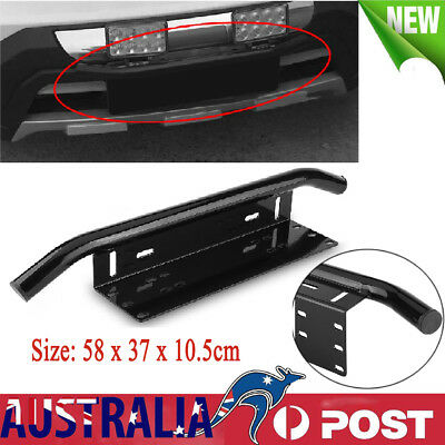 "AU 23 "" Car License Plate Bracket Holder Bull Bar Front Bumper LED Light Mount"