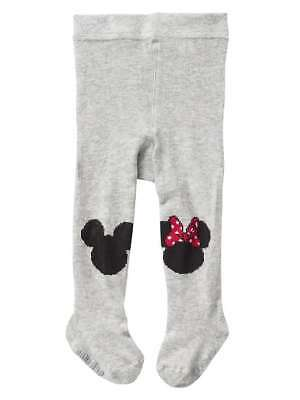 New babyGap Disney Baby Girls Mickey Mouse and Minnie Mouse sweater tights Gray
