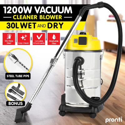 30L Wet & Dry Vacuum Cleaner and Blower Industrial Grade Bagless Drywall Vac