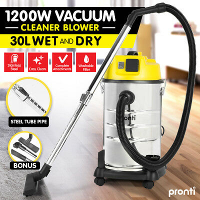 NEW 30L STAINLESS STEEL WET DRY VACUUM Blower CLEANER VAC COMMERCIAL INDUSTRIAL