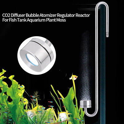 Stainless Steel CO2 Diffuser Aquarium Plant Fishing Reactor + Atomizing Nozzle