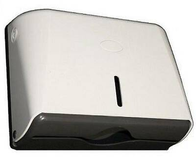 TD5W Horizontal White and Grey Slim Drying Paper Towel Dispenser ABS Plastic