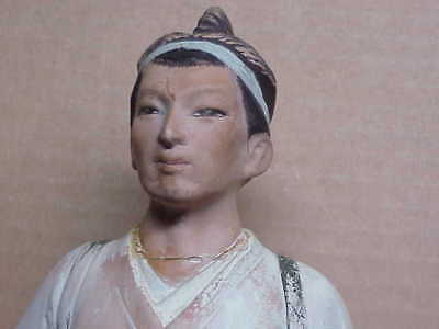 #373 Antique Japanese Tortured Man Pottery Statue Artifact Relic
