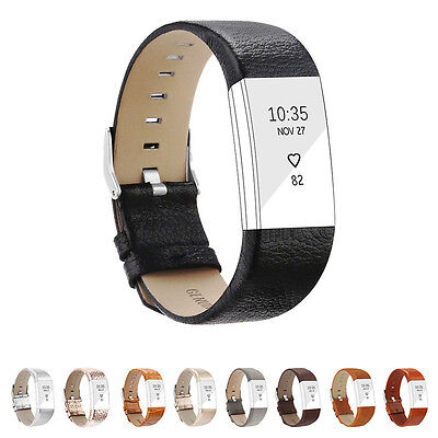 Bracelet Belt Wristband Strap Genuine Leather Watch Band for Fitbit Charge 2