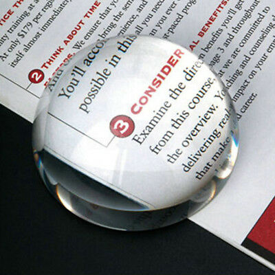 100mm Magnifying Glass Paperweight Dome Magnifiers Half Sphere Crystal Ball Gift