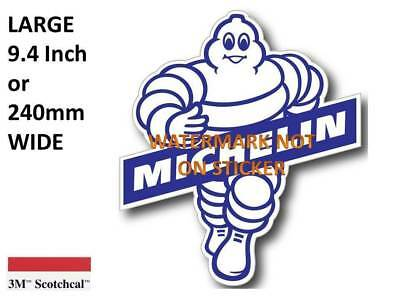 NEW VINTAGE MICHELIN MAN  GASOLINE  DECAL STICKER LARGE 9.4 inch or 240mm USA