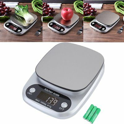 10kg/1g Digital LCD Electronic Kitchen Scales Cooking Food Weighing Scale USA EK