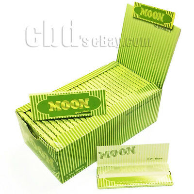 Moon Hemp Cigarette Rolling Papers 1.25 inch 77*45mm 50 Booklets x 40 Sheets Top
