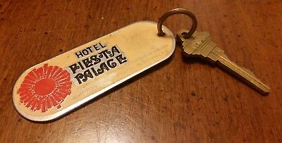 Vintage Hotel Key Fob and Key Hotel Fiesta Palace, Mexico Room #1903
