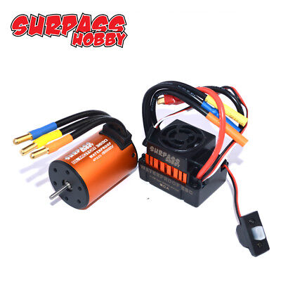 Set 4300KV Brushless 3650 Motor +60A ESC for 1:10 RC Auto LKW DEW