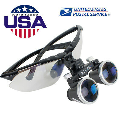 Dental Surgical Medical Binocular Loupes 2.5X420mm Optical Glass Loupe Magnifier