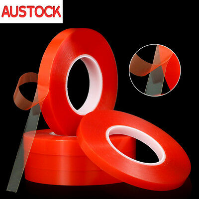 Double-sided Heat Resistant Adhesive Tape Transparent Clear Super Sticky 50M