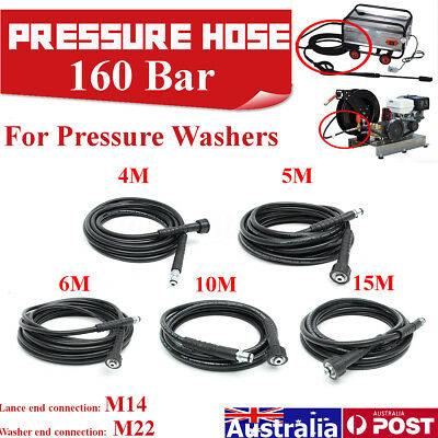 4/5/6/10/15m Pressure Washer Water 2300PSI Hose Pump End 22mm 14mm for Karcher