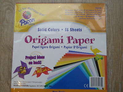Pacon Japanese Origami Paper 55-Piece 24 cm Paper  Assorted Sizes Up To 246 mm