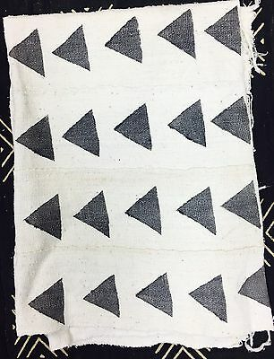 White Mud Cloth With Grey Triangles