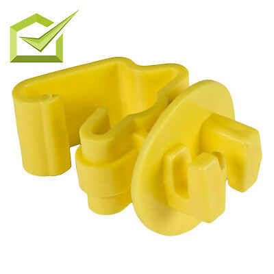 Standard Snug Fitting 25 Pieces T-Post Electric Fencing Insulator Home Yellow