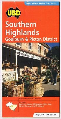 2000 UBD Road Map Southern Highlands Goulburn Picton 7th Edition 91 x 46cm
