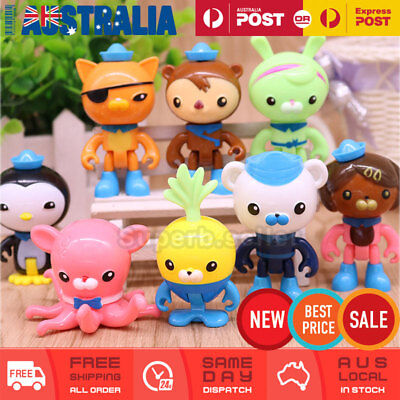 8x Octonauts Figure Toy Cake Topper Display Figurine Set Decoration Birthday Gif
