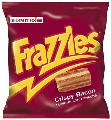 Smiths Frazzles Crispy Bacon Flavour Corn Snacks - Pack of 30