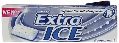 Wrigleys Extra Ice Peppermint Sugarfree Chewing Gum (Pack of 30 x 10 Pellets)
