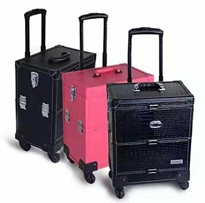 New Professional Beauty Trolley 7 Compartment Box Make Up Cosmetic Nail Jewelry