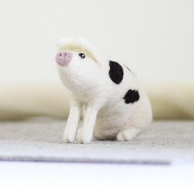 Gloucester Old Spot Pig - Needle Felting Kit - British Wool Design Craft Gift