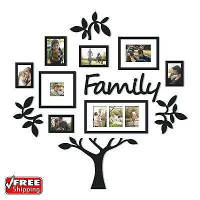 13-PIECE PICTURE PHOTO Frame Set Family Tree Collage Gallery Wall ...