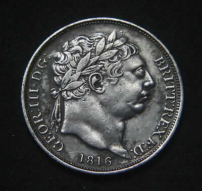 George III 1816 Sixpence VF.