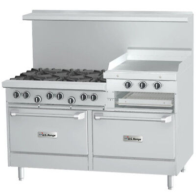 "Garland Sunfire X60-6R24RS X Series 60"" Gas Restaurant Range, Raised Griddle"