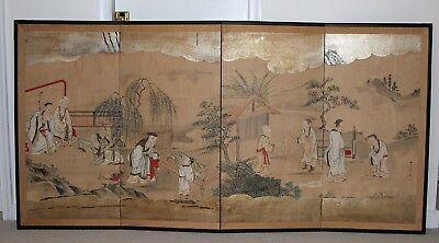 Antique Japanese painting screens, Kano school