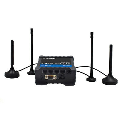 TELTONIKA RUT955 LTE / 4G Industrie Router   Dual SIM, GPS Antenne, RS232/RS485