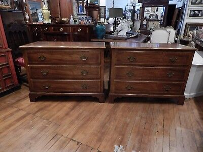 Pair of Beautiful Baker Furniture Chippendale Chests Milling Road