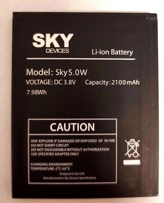 Sky Device Phone 5.0W OEM Replacement Battery 2100mah Used