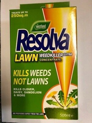 Resolva 500ml Concentrated Lawn Weedkiller Treats 250sq.m kills weeds not lawns