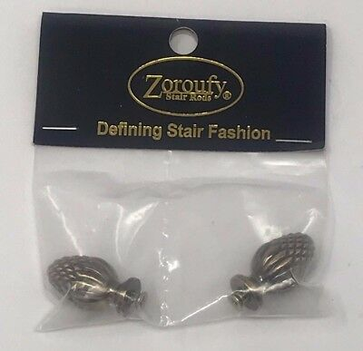 "Zoroufy Stair Rods 7611 Pineapple Finial -Antique Brass Finish - 3/4"" Diameter"