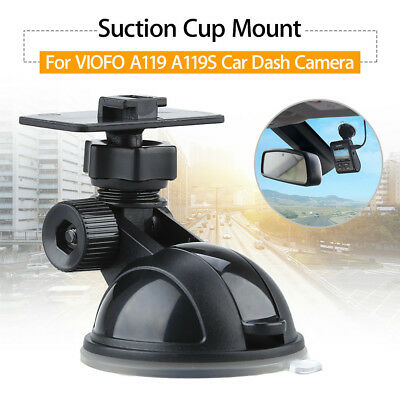 Suction Cup Mount Holder Black Fr VIOFO A119 A119S Car Dash Cam loop Recording