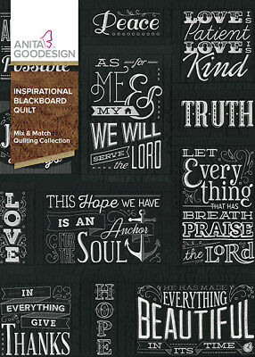 Anita Goodesign Embroidery machine CD INSPIRATIONAL BLACKBOARD QUILT