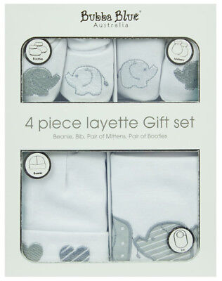 Bubba Blue - Petit Elephant - Layette 4 Piece Set