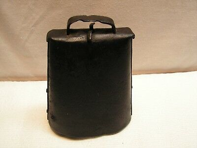 Antique 19th Century? Hand Made Large Wrought Iron Riveted Cow Bell -NICE!!!